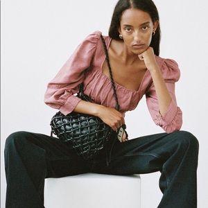 Zara linen crop top
